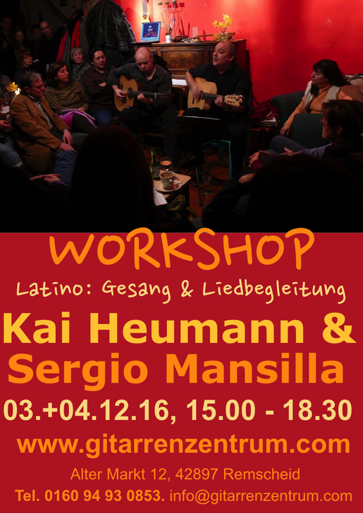 Plakat Workshop Kai HEumann Latino Din A3 hoch